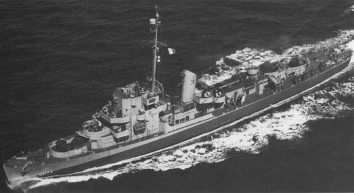 Naval destroyer USS Eldridge.