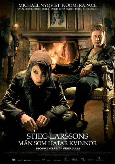 movie poster -The Girl With the Dragon Tattoo