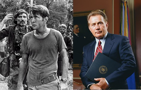 Martin Sheen: from lowly captain in one of the best movies ever made, all they way up to TV President!